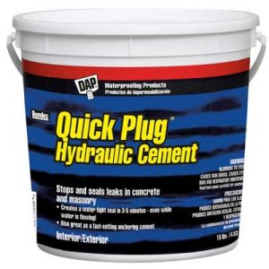 quick plug hydraulic cement